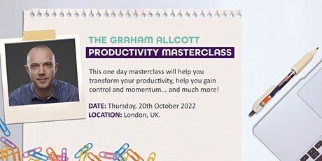 The Graham Allcott Productivity Masterclass tickets