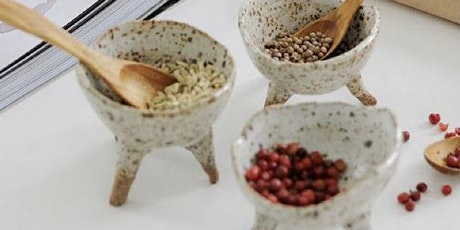 Pottery workshops, Make your own spice bowls with feet, social clay session tickets