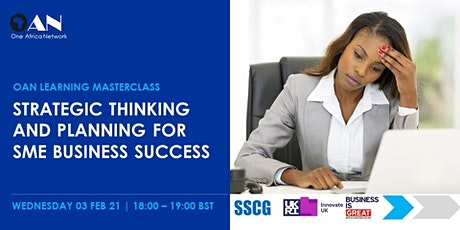 Strategic Thinking and Planning for SME Business Success tickets
