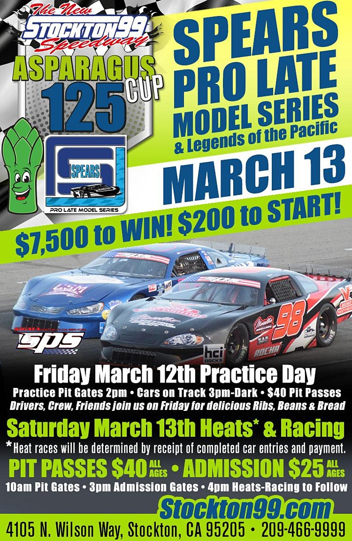 Asparagus Cup 125 - SPEARS Pro Late Models & Legend of the Pacific image