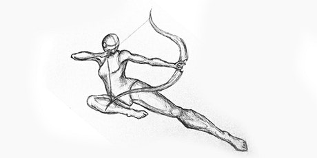 60min Advanced Figure Sketching - Archer Pose  @4PM (Ages 7+) tickets