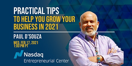 Practical Tips to help you grow your business in 2021 with Paul D'Souza tickets
