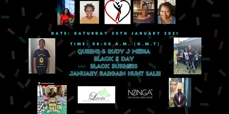 Queens & Rudy J Media supporting Black £ Day - Black Business Bargain Hunt! tickets