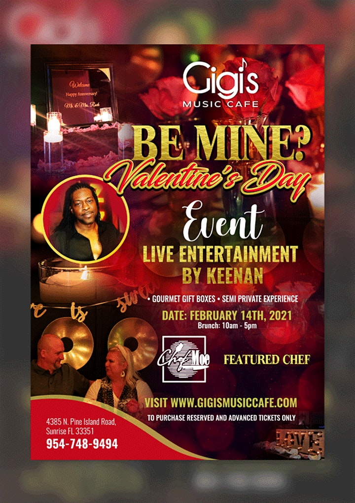 Chef Moe & Gigi's Music Cafe  presents Be Mine?  Valentine's  Day Brunch! image