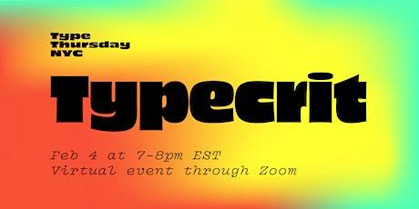 TypeThursdayNYC January tickets