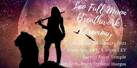Leo Full Moon Breathwork Ceremony tickets