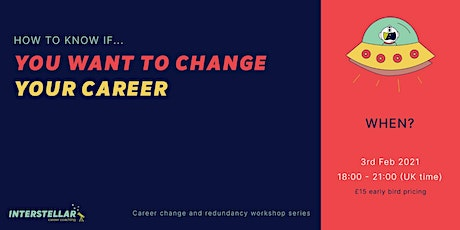 Online Workshop: How to know if you want to change your career biglietti