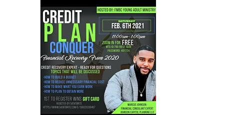 Credit-Plan-Conquer Financial Recovery from 2020 tickets