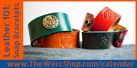 Leather 101: Snap Bracelets  6.2.21 tickets