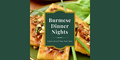 Burmese Dinner Nights - Reservations Only! tickets