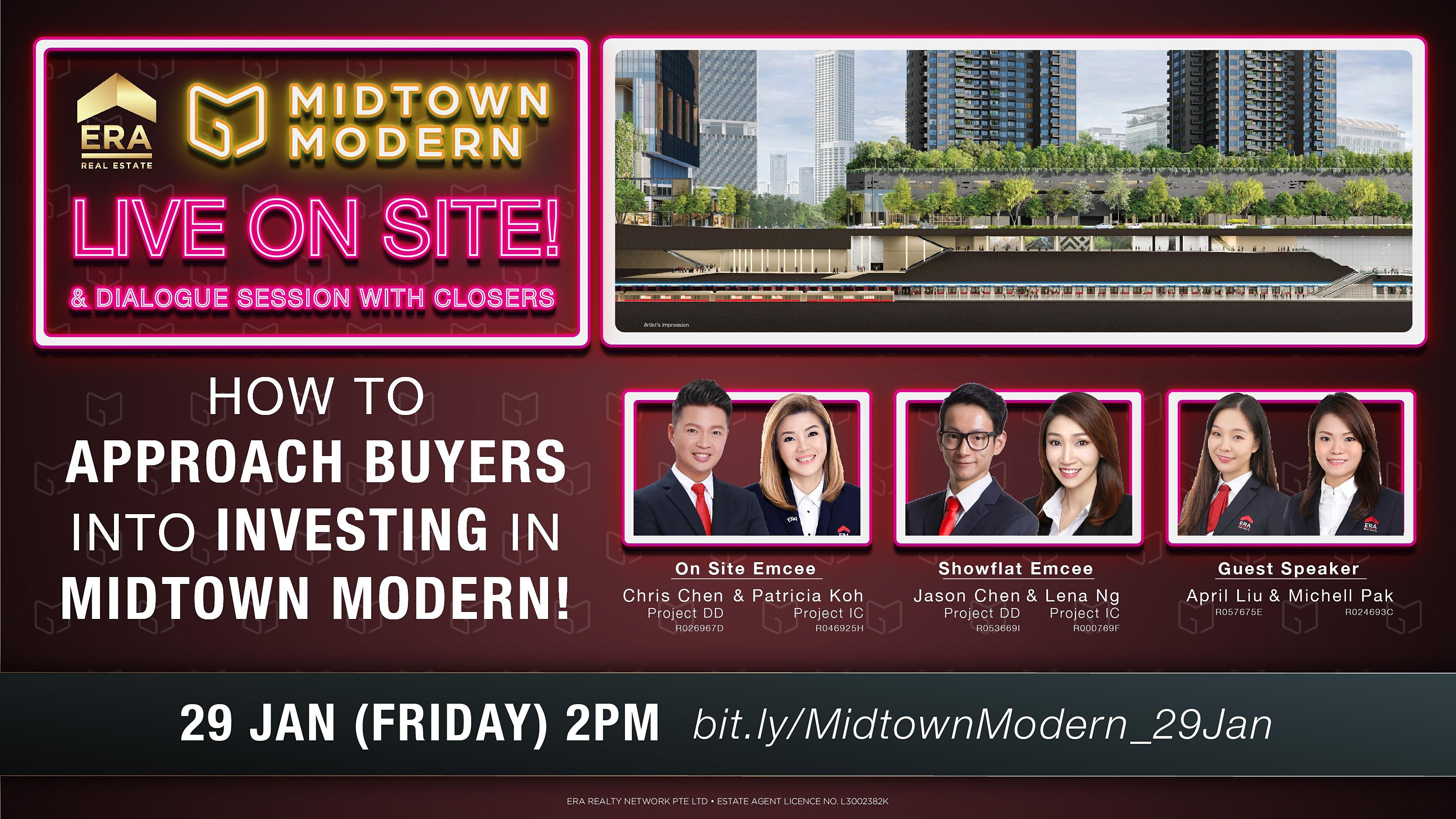 How to Approach Buyers Into Investing in Midtown Modern!