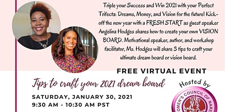 Dreams x Money x Vision: 3 Tips to Craft your 2021 Dream Board tickets