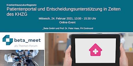 Patientenportal und Entscheidungsunterstützung in Zeiten des KHZG Tickets