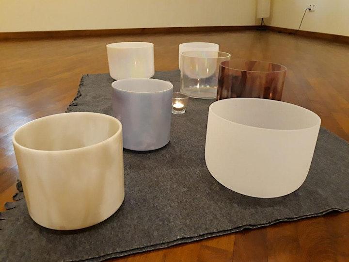 Online/Onsite Chakra Balancing with Crystal Singing Bowls image