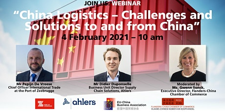 Webinar: China Logistics – Challenges and Solutions to and from China tickets
