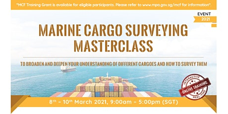 Marine Cargo Surveying Masterclass tickets