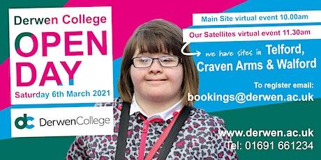 Derwen College Virtual Open Day - Spring 2021 -Satellites tickets