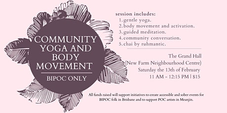 Community Yoga and Body Movement (BIPOC Only) tickets