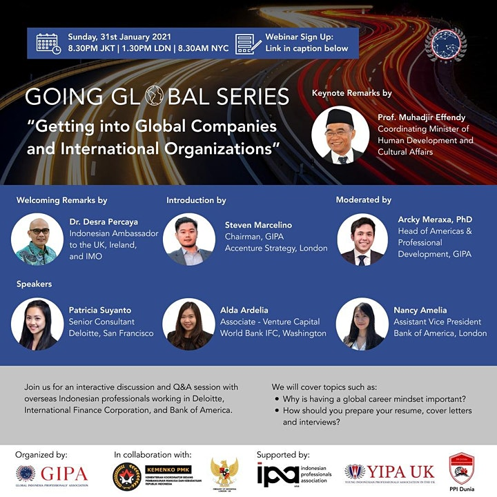 Going Global Series: Getting into Global Companies and Int'l Organizations image