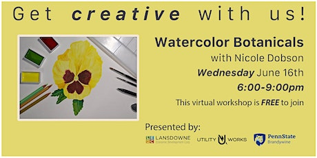 Watercolor Botanicals with Nicole Dobson tickets