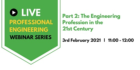Professional Engineering  webinar series tickets