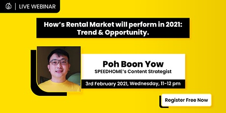 [FREE] How's Rental Market will perform in 2021: Trend & Opportunity. tickets