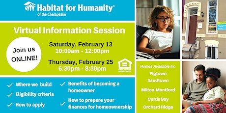 Habitat for Humanity- Homebuyer Information Session | Feb 2021 tickets