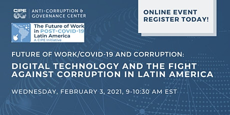 Digital Technology and the Fight Against Corruption in Latin America tickets