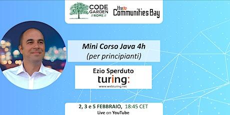 Mini Corso Java 4h (per principianti) biglietti