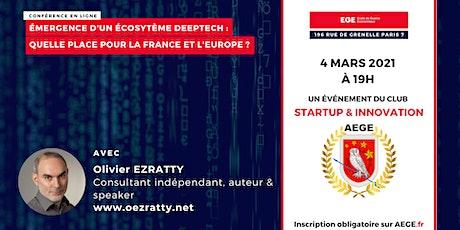 Émergence d'un écosystème deeptech : une place pour la France et l'Europe ? billets