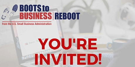 Virtual Boots To Business REBOOT tickets