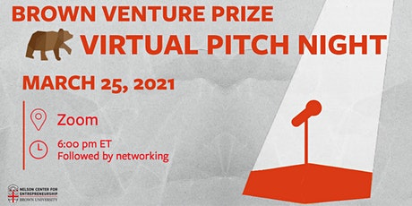 2021 Brown Venture Prize Pitch Night tickets