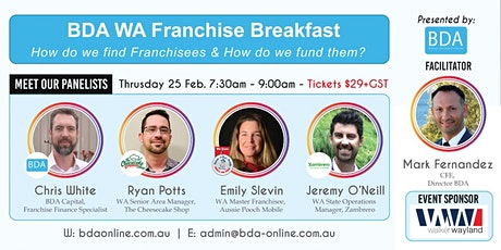 BDA WA Franchise Breakfast - Thur 25 Feb 730am-9am tickets
