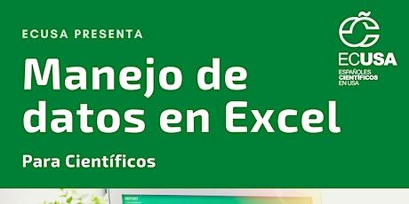 Manejo de datos en Excel para cientificos entradas