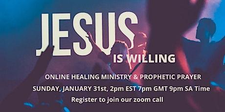 ONLINE HEALING MINISTRY & PROPHETIC PRAYER tickets