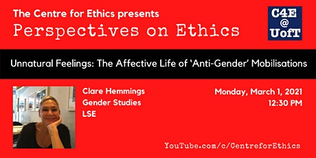 Clare Hemmings, The Affective Life of 'Anti-Gender' Mobilisations tickets