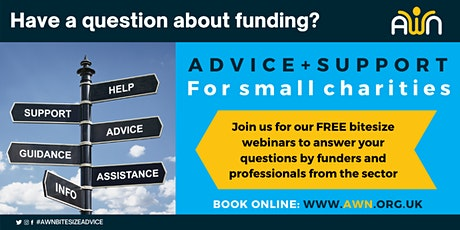 Bitesize Funding Advice and Support for small charities tickets