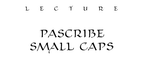 Lecture: PAScribe Small Caps tickets