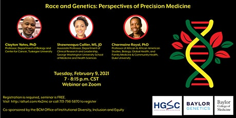 Race and Genetics: Perspectives on Precision Medicine tickets