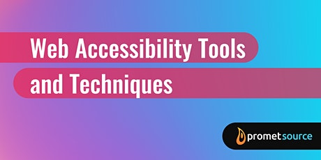 Web Accessibility Tools and Techniques (1 Day) tickets
