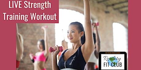 Wednesdays 9am PST LIVE Upper Body Strength:  Upper Body @ Home Workout tickets