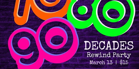 (Indoors + Distanced!) DECADES Rewind Party - 70's, 80's, and 90's w/ DJ  D tickets