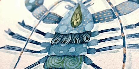 Zentangle® Meets Watercolor! (Illustrative Lobster) tickets