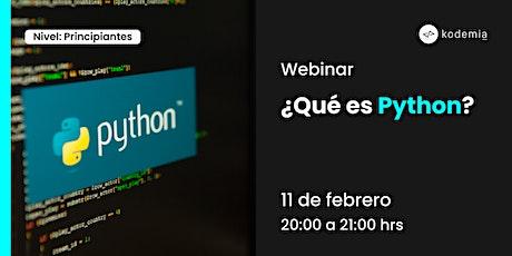 Webinar - ¿Qué es Python? entradas