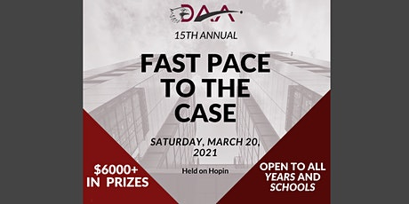 Fast Pace to the Case 2021 - Accounting Case Competition tickets