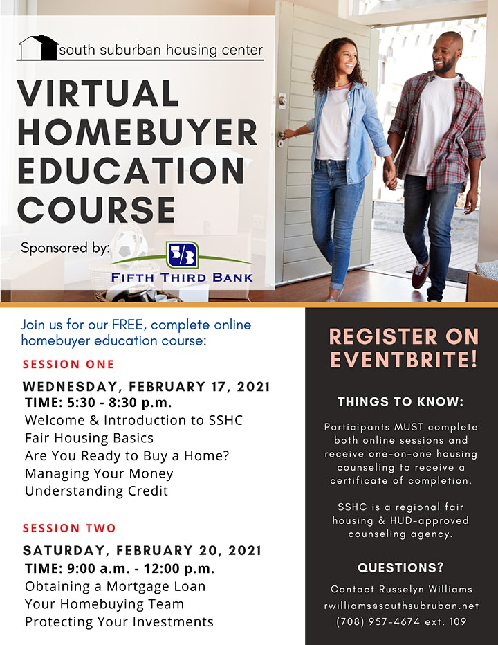 February Virtual Homebuyer Education Course image