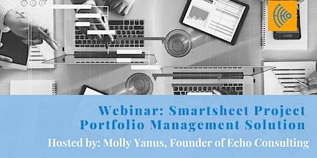 Webinar: Smartsheet Project Portfolio Management Solution tickets