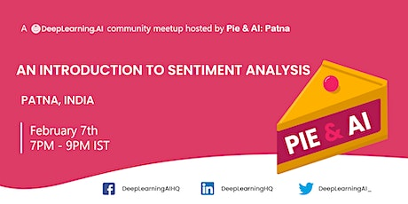 Pie & AI: Patna - An Introduction to Sentiment Analysis tickets