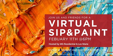 Virtual Sip & Paint w/ MG Residential tickets