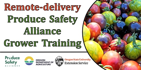 Remote-delivery Two-Day Produce Safety Alliance (PSA) Grower Training tickets